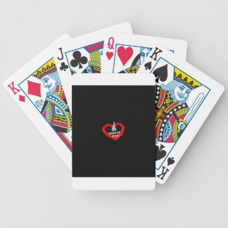 Candle Heart Design For The State of New Hampshire Bicycle Playing Cards