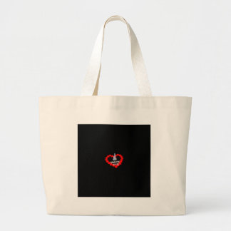 Candle Heart Design For The State of New Hampshire Large Tote Bag