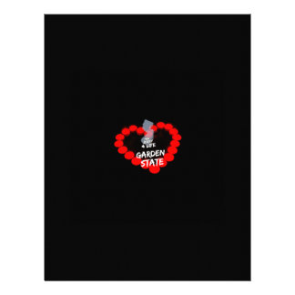 Candle Heart Design For The State of New Jersey Customized Letterhead
