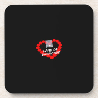 Candle Heart Design For The State of New Mexico Beverage Coaster