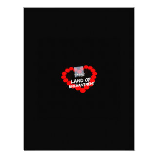 Candle Heart Design For The State of New Mexico Personalized Letterhead