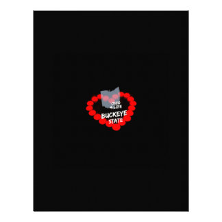 Candle Heart Design For The State Of Ohio Custom Letterhead