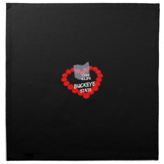 Candle Heart Design For The State Of Ohio Printed Napkin