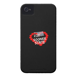 Candle Heart Design For The State Of Oklahoma iPhone 4 Case-Mate Cases