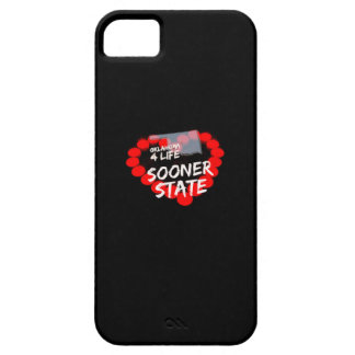 Candle Heart Design For The State Of Oklahoma iPhone 5 Cases