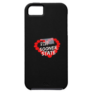 Candle Heart Design For The State Of Oklahoma iPhone 5 Cover