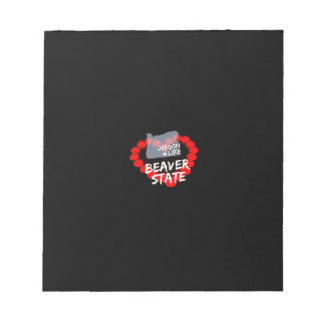 Candle Heart Design For The State of Oregon Notepad