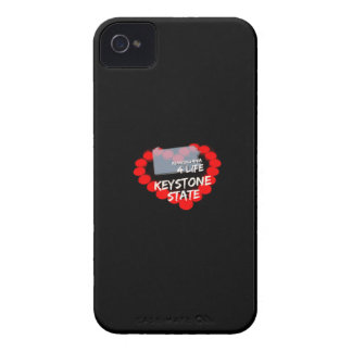 Candle Heart Design For The State of Pennsylvania iPhone 4 Case