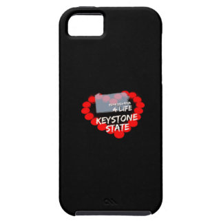 Candle Heart Design For The State of Pennsylvania iPhone 5 Covers