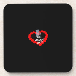 Candle Heart Design For The State of Rhode Island Coaster