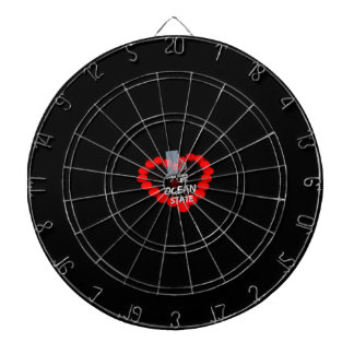 Candle Heart Design For The State of Rhode Island Dartboard
