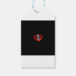 Candle Heart Design For The State of Rhode Island Pack Of Gift Tags
