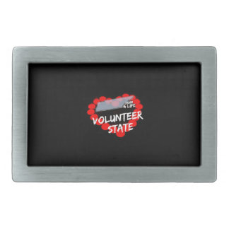 Candle Heart Design For The State of Tennessee Belt Buckle