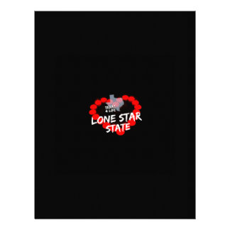 Candle Heart Design For The State of Texas Custom Letterhead