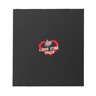 Candle Heart Design For The State of Texas Notepad