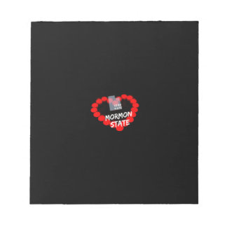 Candle Heart Design For The State of Utah Notepad