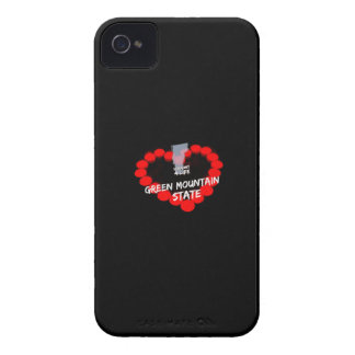 Candle Heart Design For The State of Vermont iPhone 4 Case-Mate Case