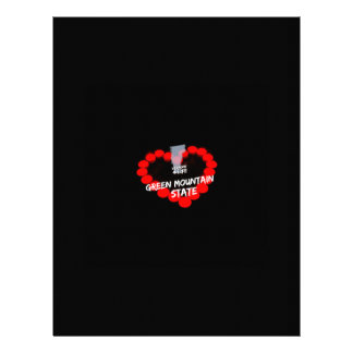 Candle Heart Design For The State of Vermont Letterhead Template