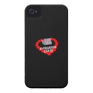 Candle Heart Design For The State of Washington iPhone 4 Case-Mate Cases