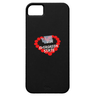 Candle Heart Design For The State of Washington iPhone 5 Case