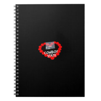 Candle Heart Design For The State of Wyoming Notebooks