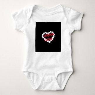 Candle Heart Design For Vernon, Texas Baby Bodysuit