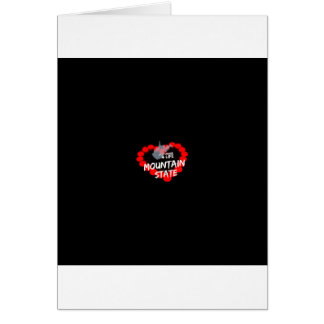 Candle Heart Design For West Virginia State Card