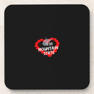 Candle Heart Design For West Virginia State Coaster