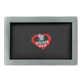 Candle Heart Design For Wisconsin State Belt Buckles