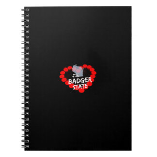 Candle Heart Design For Wisconsin State Notebook