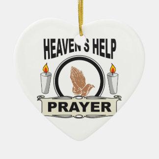 candle heaven help ceramic ornament
