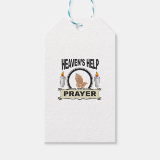 candle heaven help gift tags