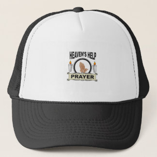 candle heaven help trucker hat