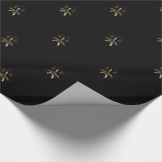 Candle Holder Black and Gold Elegant Christmas Wrapping Paper