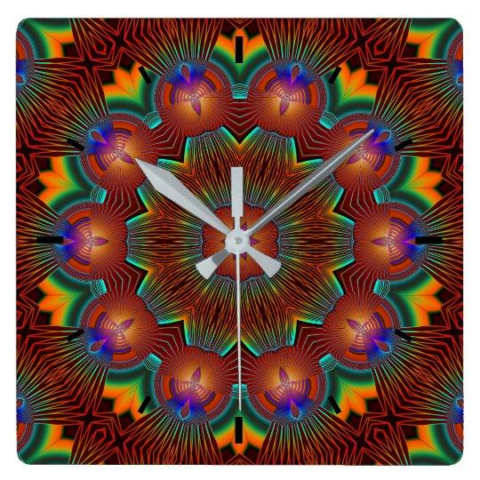 Candle Illuminated Bright Circle of Life Mandala Wallclock