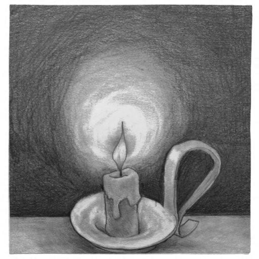 Candle in the Dark Napkin