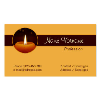 Candle light business card