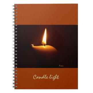 candle light spiral notebook