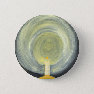Candle lighting up the Night 2 Inch Round Button