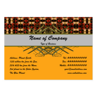 Candle Lights Grid Business Card