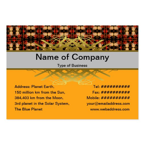 Candle Lights Grid Business Card Templates