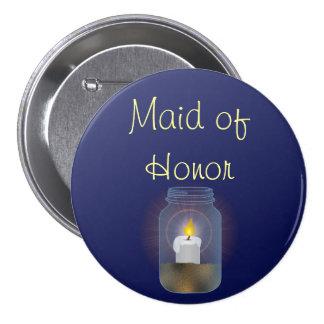 Candle Mason Jar Button