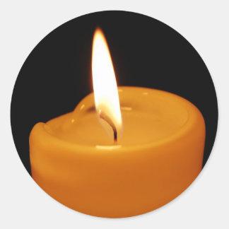 Candle Round Sticker