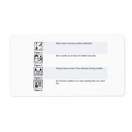 Candle Safety Sticker Shipping Label