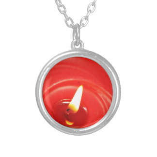 Candle Silver Plated Necklace