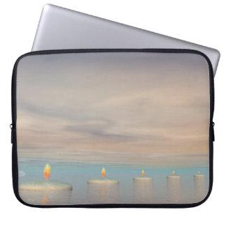 Candle steps - 3D render Laptop Sleeve
