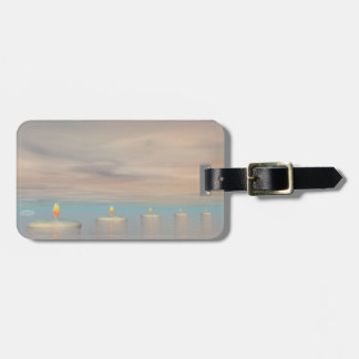 Candle steps - 3D render Luggage Tag