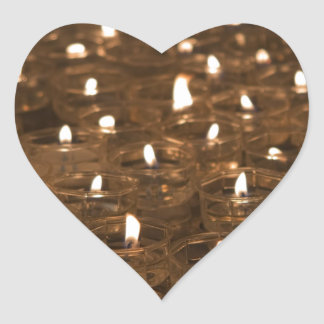 candle votives heart sticker