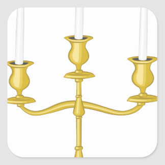 Candleabra Square Sticker