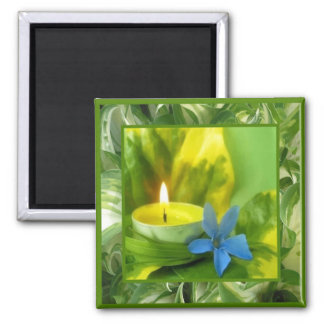 Candlelight and Flowers Magnet